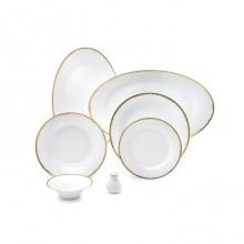 Zarin Iran Shahrzad Royal Gold 35pcs Dinnerware Set