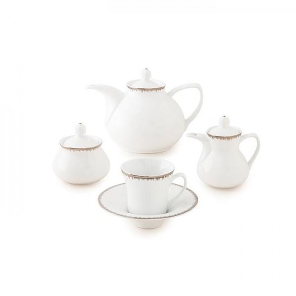 Zarin Iran Shahrzad Royal Platinum 18pcs Tea Set