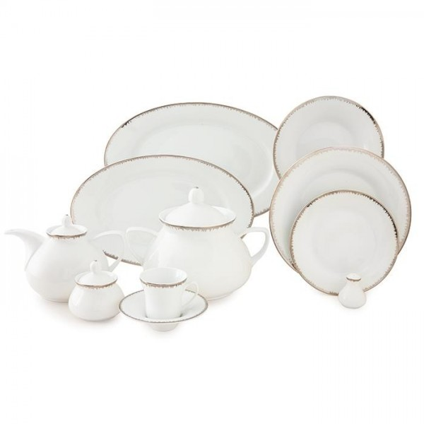 Zarin Iran Shahrzad Royal Platinum 108pcs Dinnerware Set