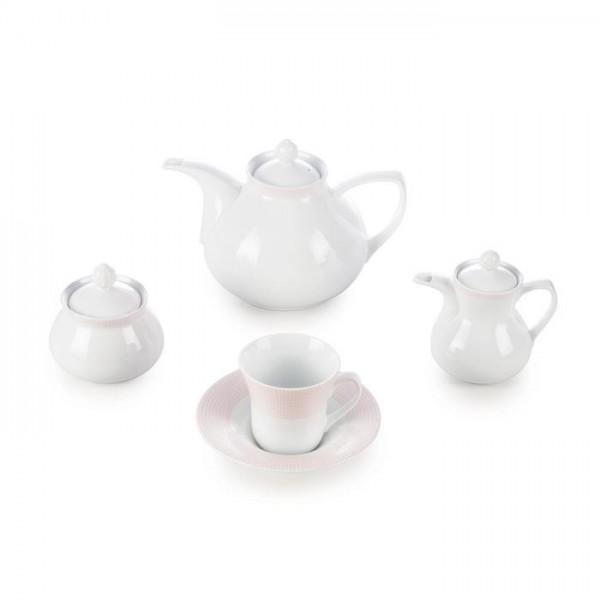 Zarin Iran Shahrzad Meridien Pink 18pcs Tea Set