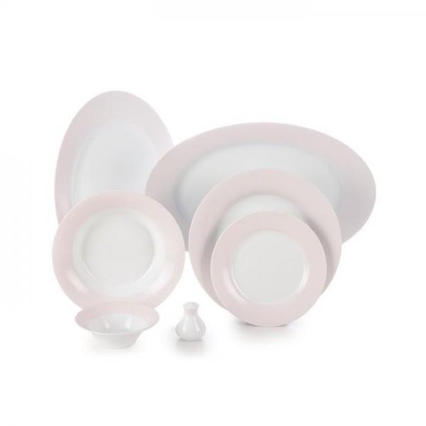 Zarin Iran Shahrzad Meridien Pink 35pcs Dinnerware Set