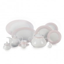 Zarin Iran Shahrzad Meridien Pink 108pcs Dinnerware Set