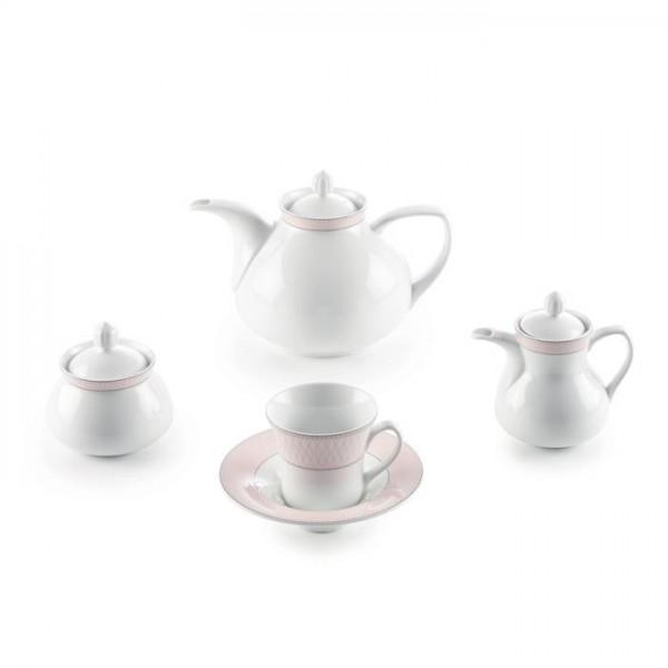Zarin Iran Shahrzad Zhanti Pink 18pcs Tea Set