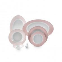 Zarin Iran Shahrzad Zhanti Pink 35pcs Dinnerware Set