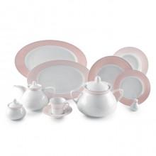 Zarin Iran Shahrzad Zhanti Pink 108pcs Dinnerware Set
