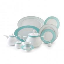 Zarin Iran Shahrzad Zhanti Turquoise 108pcs Dinnerware Set