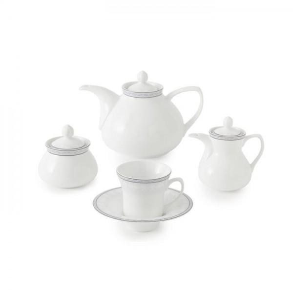 Zarin Iran Shahrzad White Rose 18pcs Tea Set