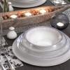 Zarin Iran Shahrzad White Rose 35pcs Dinnerware Set
