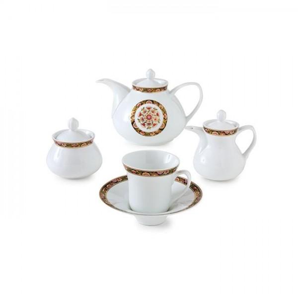 Zarin Iran Shahrzad Golden Garden 18pcs Tea Set
