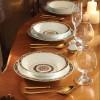 Zarin Iran Shahrzad Golden Garden 108pcs Dinnerware Set
