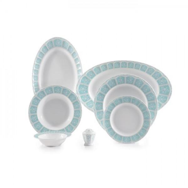 Zarin Iran Neo Classic Artemis Turquoise 29pcs Dinnerware Set
