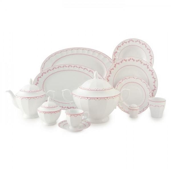 Zarin Iran Neo Classic Francis Pink 103pcs Dinnerware Set