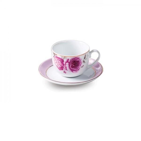 Zarin Iran Italia F Rose Flower 12pcs Tea Set