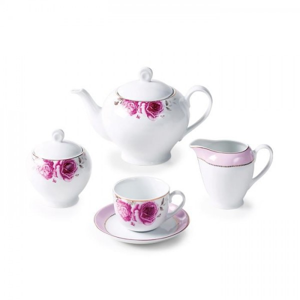 Zarin Iran Italia F Rose Flower 17pcs Tea Set