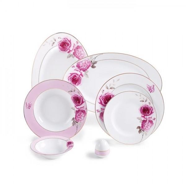 Zarin Iran Italia F Rose Flower 28pcs Dinnerware Set