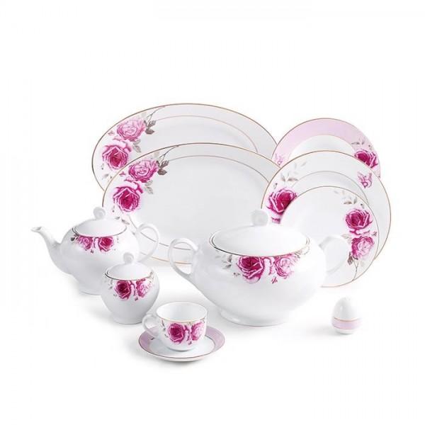 Zarin Iran Italia F Rose Flower 102pcs Dinnerware Set