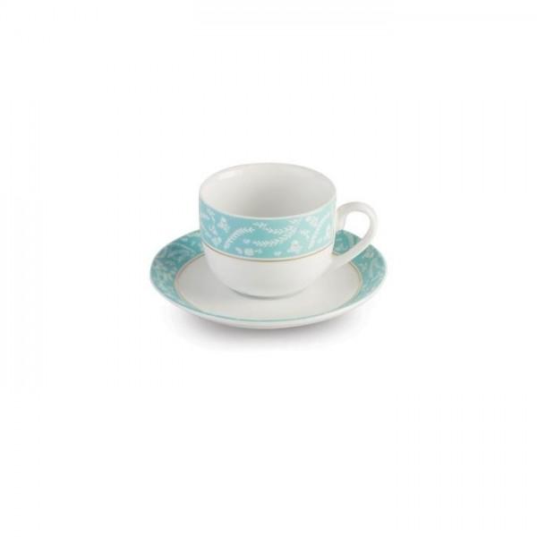 Zarin Iran Italia F Athina Turquoise 12pcs Tea Set
