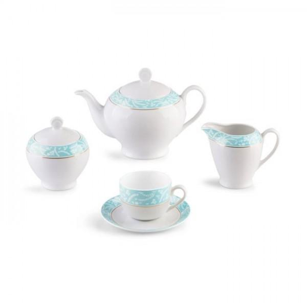 Zarin Iran Italia F Athina Turquoise 17pcs Tea Set