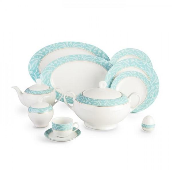 Zarin Iran Italia F Athina Turquoise 102pcs Dinnerware Set