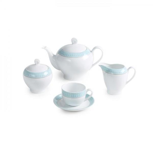 Zarin Iran Italia F Sepid Sadaf Turquoise 17pcs Tea Set