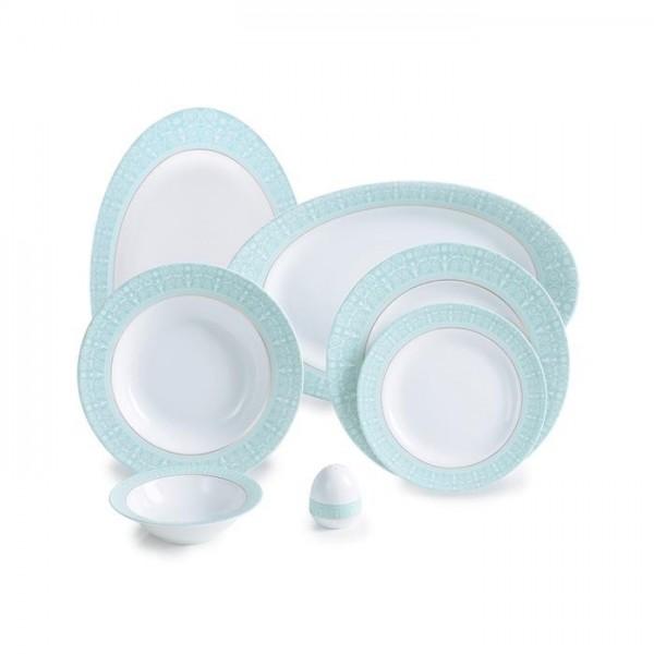 Zarin Iran Italia F Sepid Sadaf Turquoise 28pcs Dinnerware Set