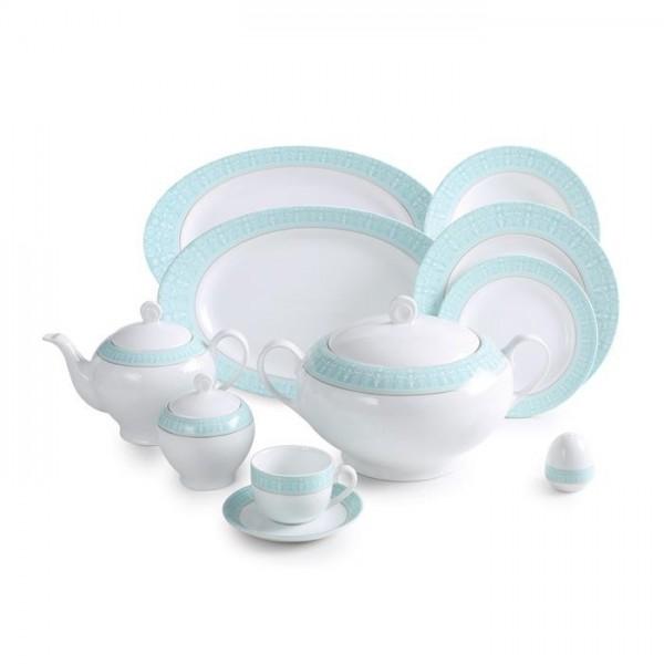 Zarin Iran Italia F Sepid Sadaf Turquoise 102pcs Dinnerware Set