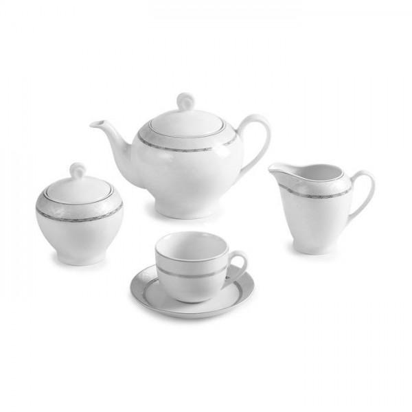 Zarin Iran Italia F Gift Platinum 17pcs Tea Set