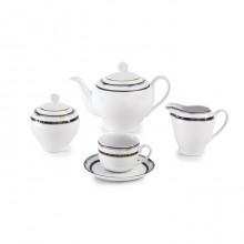 سرویس چای خوری 17 پارچه پرشیا سرمه ای سری ایتالیا اف چینی زرین ایران