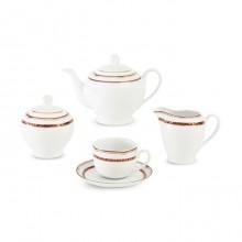سرویس چای خوری 17 پارچه پرشیا قرمز سری ایتالیا اف چینی زرین ایران