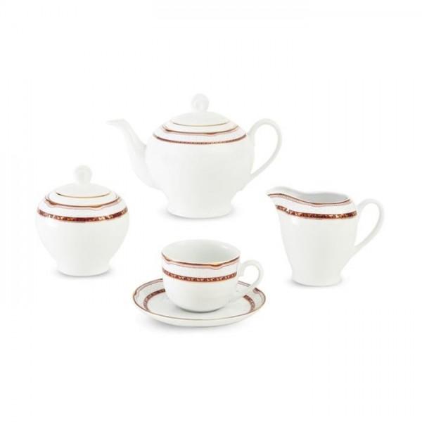 Zarin Iran Italia F Persia Red 17pcs Tea Set