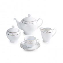 سرویس چای خوری 17 پارچه روما سری ایتالیا اف چینی زرین ایران