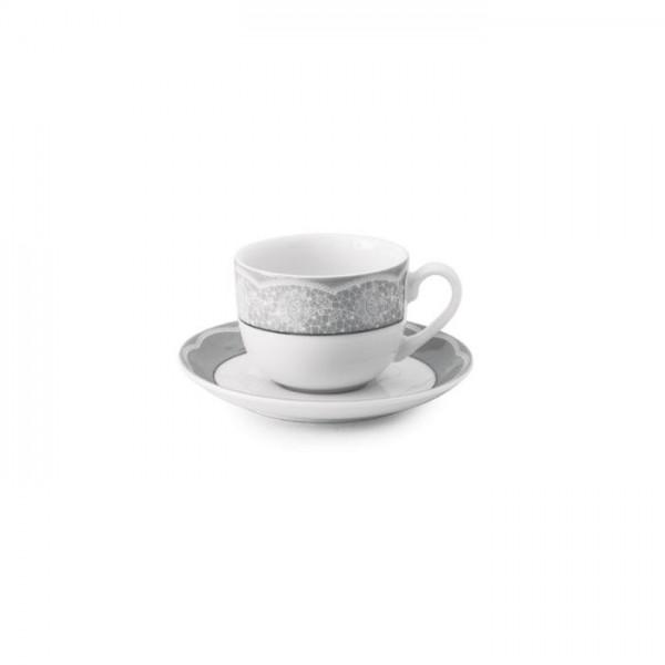 Zarin Iran Italia F Isabel Platinum 12pcs Tea Set