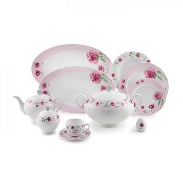 Zarin Iran Italia F Pink Rose 102pcs Dinnerware Set