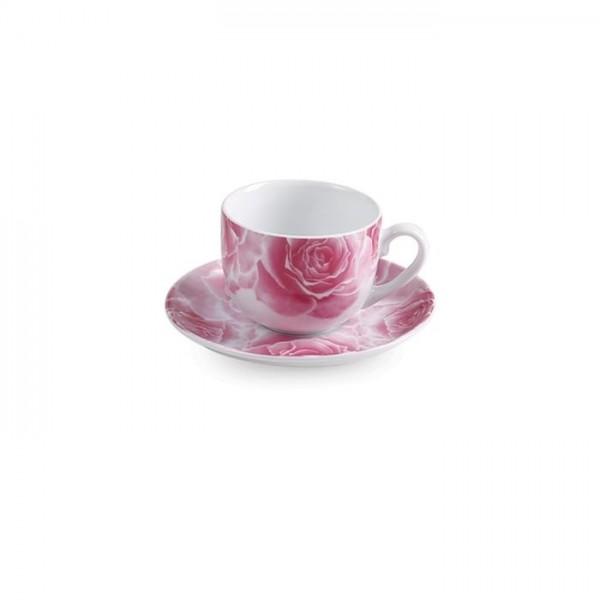 Zarin Iran Italia F Rosetta Pink 12pcs Tea Set