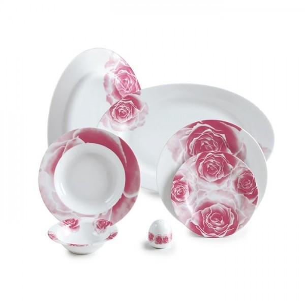 Zarin Iran Italia F Rosetta Pink 28pcs Dinnerware Set