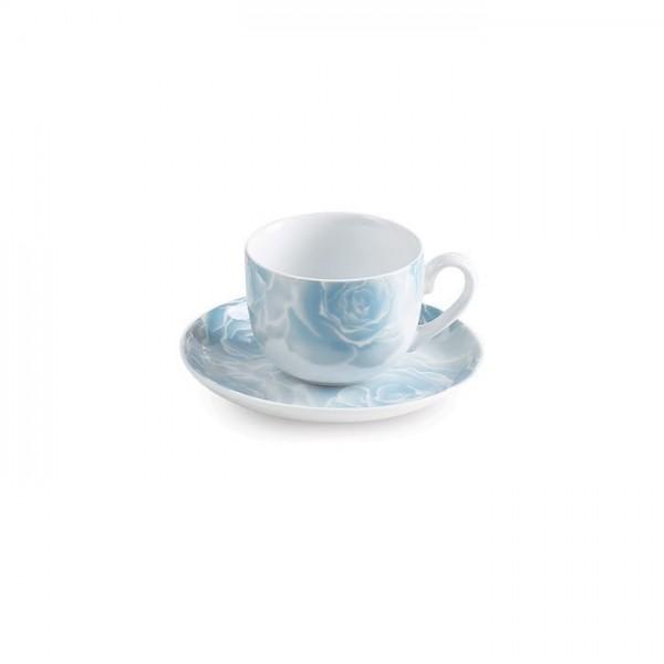 Zarin Iran Italia F Rosetta Blue 12pcs Tea Set