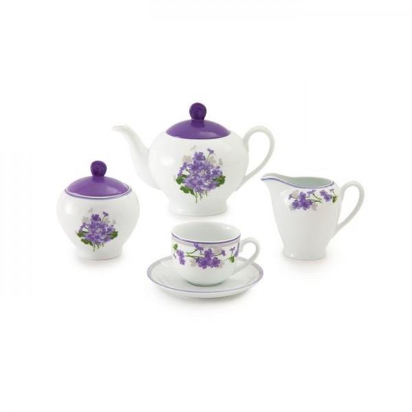 Zarin Iran Italia F Jasmin Violet 17pcs Tea Set
