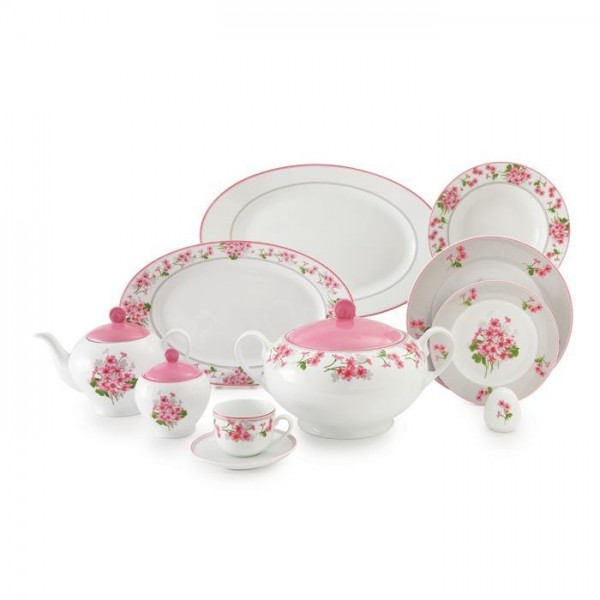 Zarin Iran Italia F Jasmin Pink 102pcs Dinnerware Set