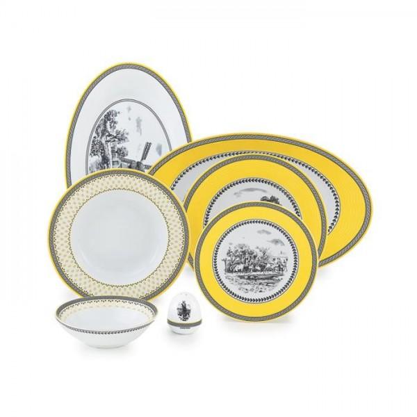 Zarin Iran Italia F Village 28pcs Dinnerware Set