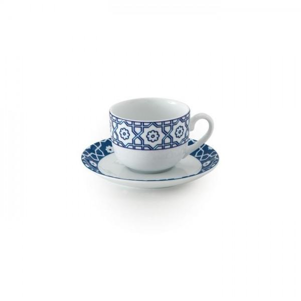 Zarin Iran Italia F Meybod Dark Blue 12pcs Tea Set