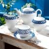 Zarin Iran Italia F Meybod Dark Blue 102pcs Dinnerware Set