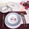Zarin Iran Italia F Valencia Purple 102pcs Dinnerware Set