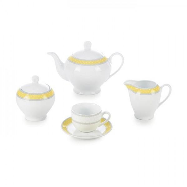 Zarin Iran Italia F Seville Yellow 17pcs Tea Set