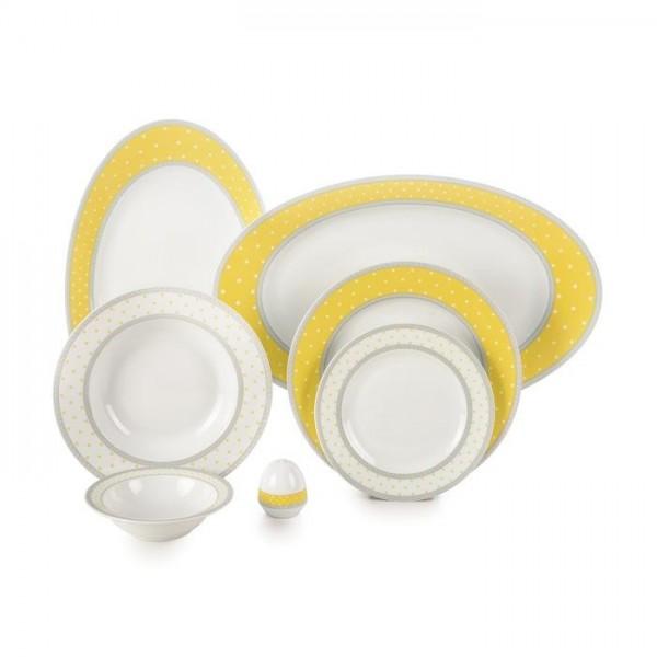 Zarin Iran Italia F Seville Yellow 28pcs Dinnerware Set