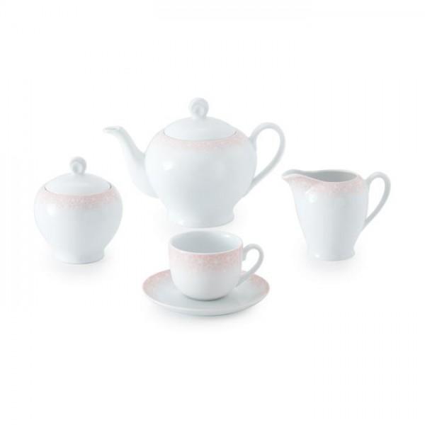Zarin Iran Italia F Sakura Pink 17pcs Tea Set