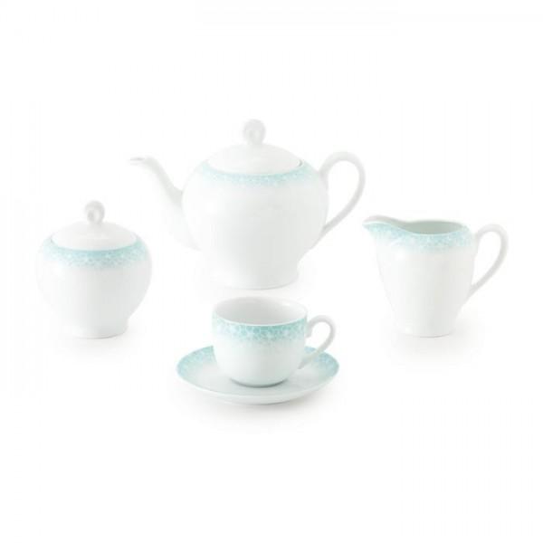 Zarin Iran Italia F Sakura Blue 17pcs Tea Set