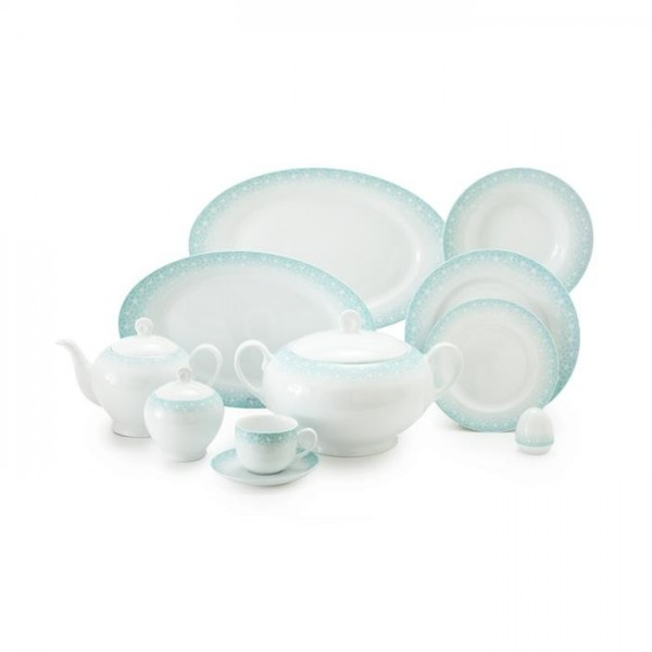 Zarin Iran Italia F Sakura Blue 102pcs Dinnerware Set