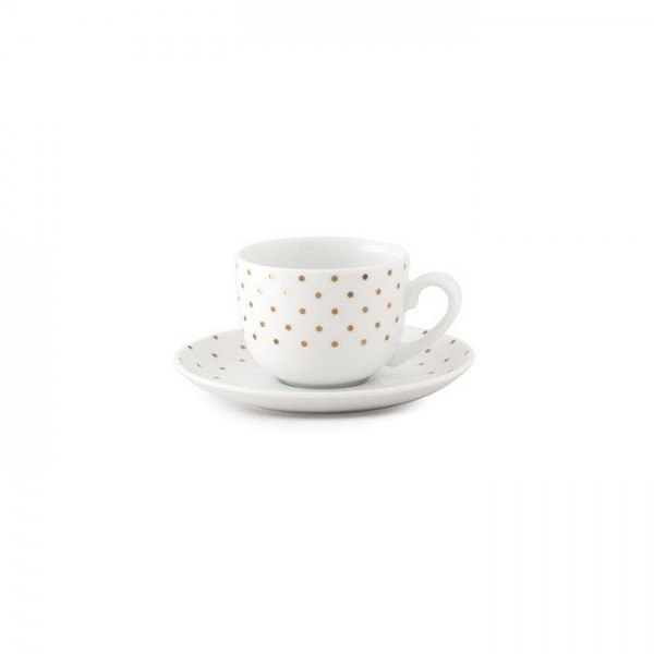Zarin Iran Italia F Spotty Gold 12pcs Tea Set
