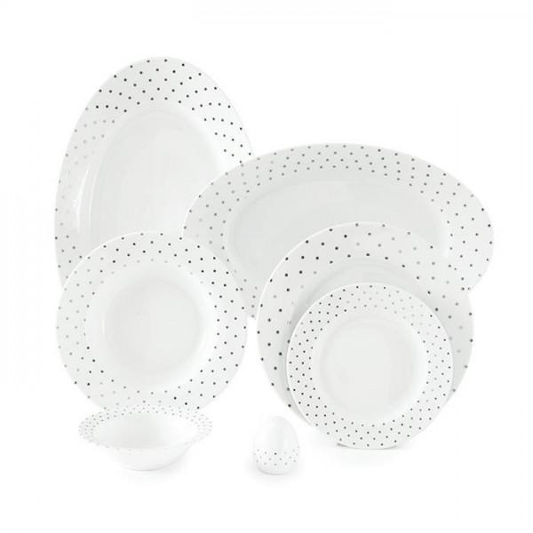 Zarin Iran Italia F Spotty Platinum 28pcs Dinnerware Set