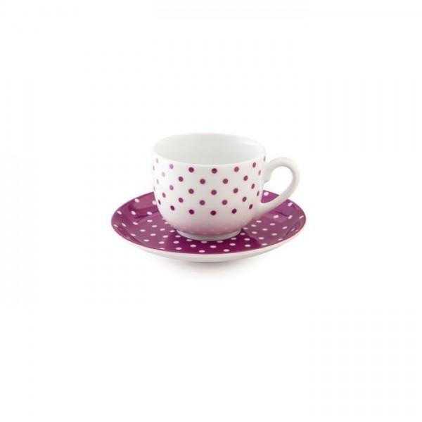 Zarin Iran Italia F Spotty Violet 12pcs Tea Set